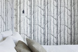 Bedroom-with-Natural-Wallpaper-Design-in-Shakin-Stevens-House-by-Matt-Gibson-Architecture